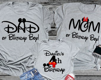 Mickey Mouse Shirt Birthday Personalized Tee Minnie Disney World Family Vacation Trip Name Party Epcot Magic Boy Mom Dad SALE