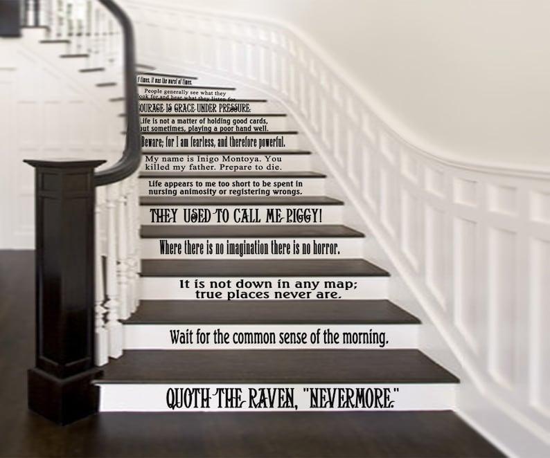 Citaten Uit Literatuur : Klassieke literatuur citaten set van 12 voor trappen of muur etsy