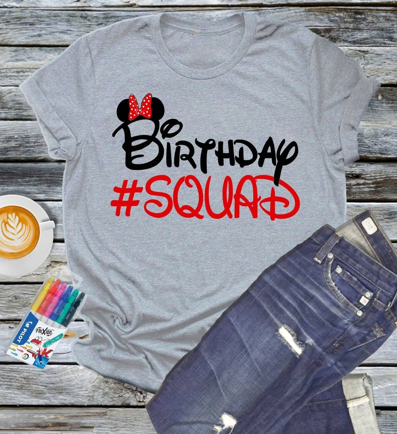 132e2e388 Minnie Mouse Birthday Squad Shirt Personalized Tee Mickey image 0 ...