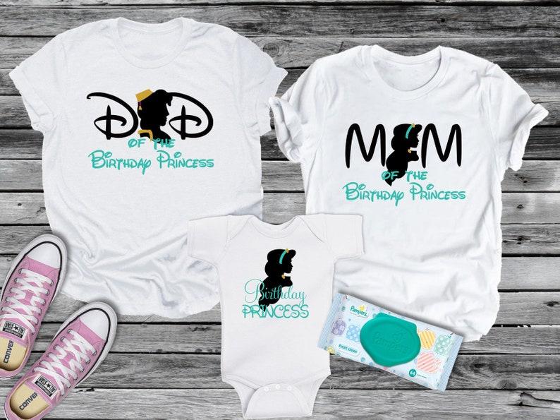 cc983842 Jasmine Birthday Mom Dad or Princess Shirt Personalized Tee   Etsy