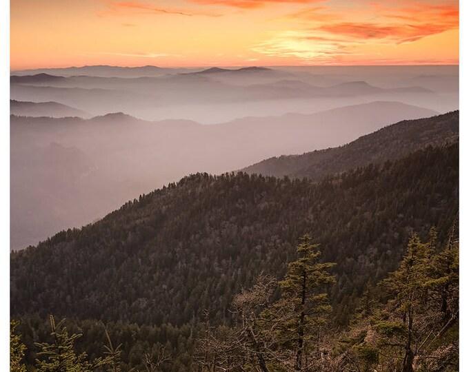 November Twilight at Cliff Tops