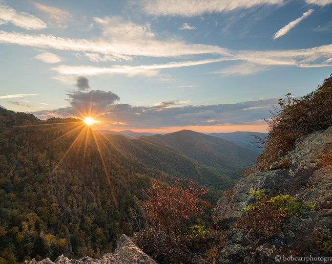 Last Sunset at Chimney Tops