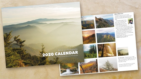 2020 Smoky Mountain Photo Calendar