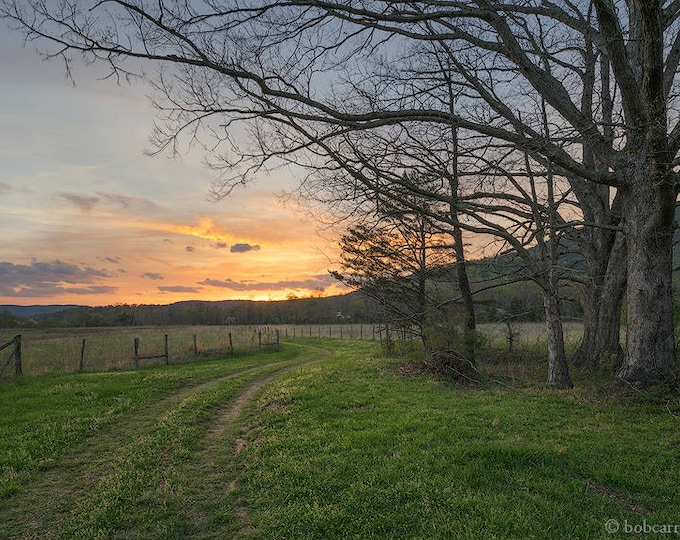 Spring Sunset in Cades Cove