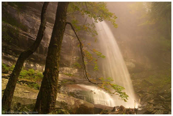 Rainbow Falls in Fog