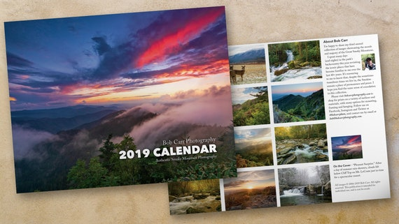 Pack of 5 - 2019 Smoky Mountains Photo Calendar