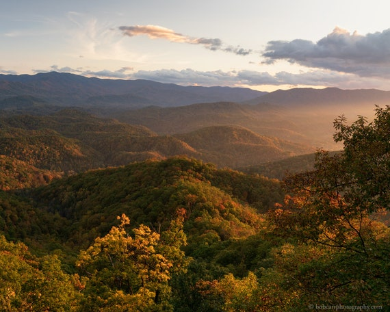 Autumn Evening on the Foothills Parkway