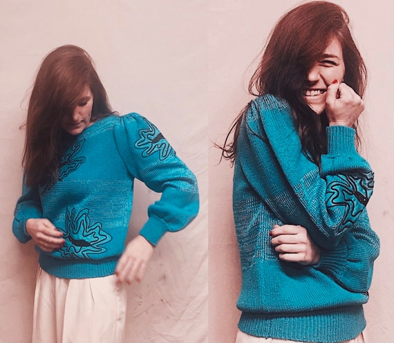 Butterfly Journey Sweater | vintage 1980s puff sle