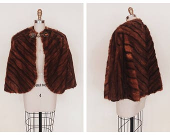 Wiser Than They Cape   vintage 1930s mink fur