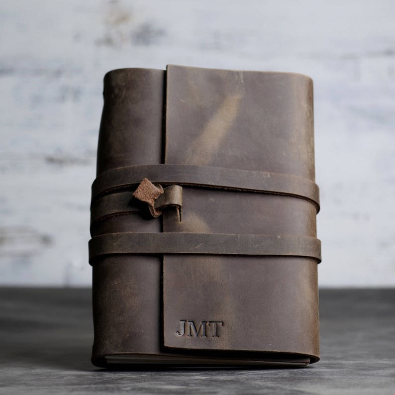 REFILLABLE Personalized Premium Leather Journal Notebook or image 0