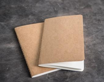 "Kraft Notebook Refills for Refillable Leather 4""x6"" ADVENTURE Journals"