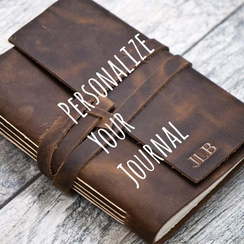 Personalized Premium Leather Journal Notebook or Sketchbook  image 0