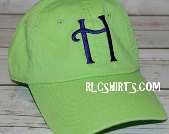 1f0c0495040823 Lime Green monogrammiert Kugel Kappe. Monogramm-Hut. Lime Green Hut.  Personalisierte Kugel Kappe. Monogrammiert Cap. Lime grün Ball Cap.  Monogramm-Hut.