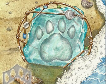 Ace of Sea,  Giclee Print, from Mystical Cats Tarot