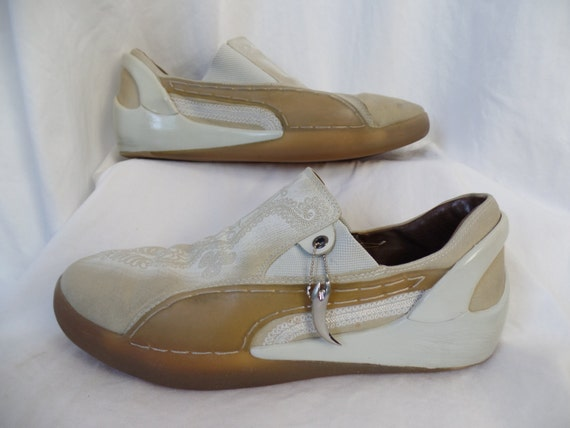c463caa946b Alexander McQueen mens slip on Puma skater shoes  tan rope