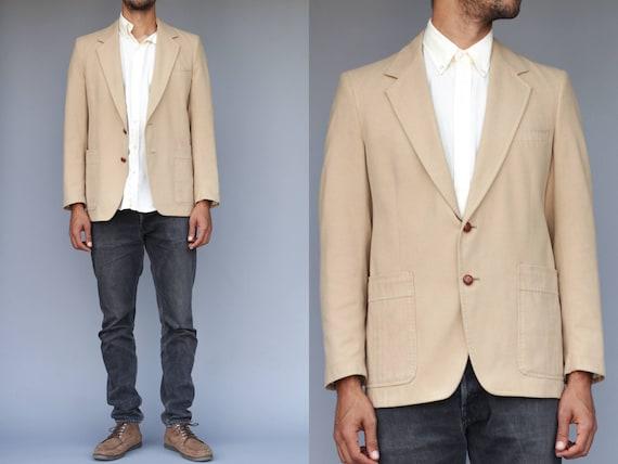 Khaki Lined Sports Coat / Blazer By Amalgamated Wo