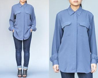 Croft & Barrow Button Up Blouse / Shirt Womens Size Medium 90's Vintage