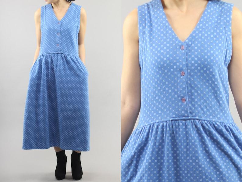 d43792c375bdb LL Bean Pinafore Sleeveless Interlock Knit Pocket Maxi Dress