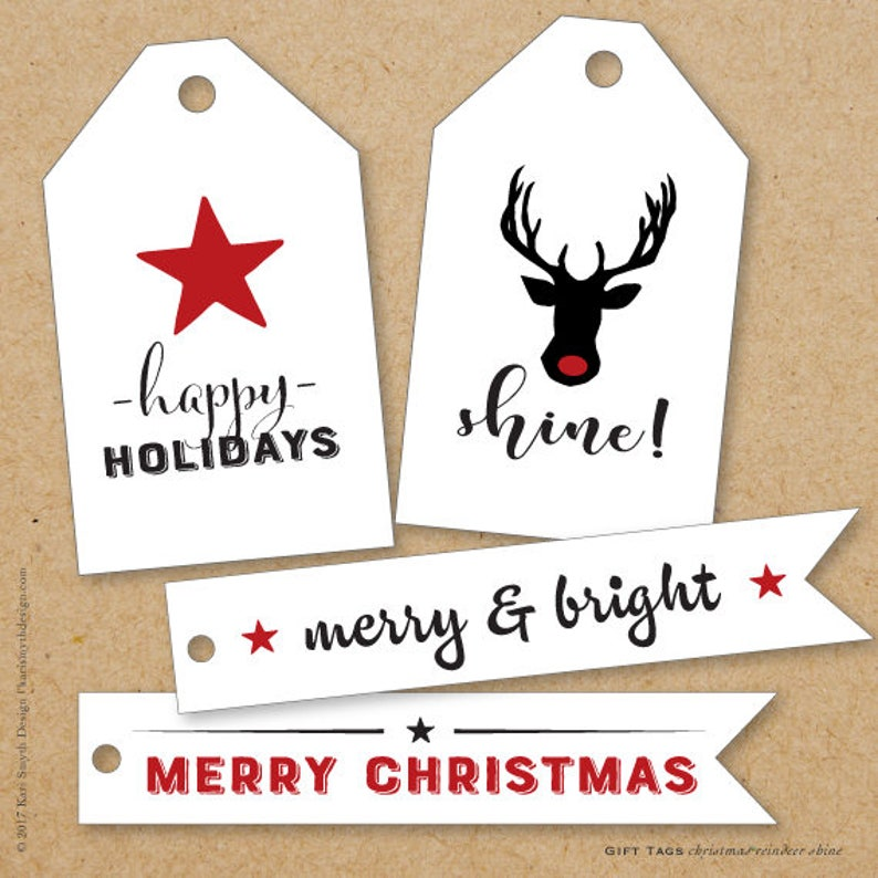 image relating to Large Gift Tags Printable identify Superstars Reindeer Glow! - Holiday vacation/Xmas Superior Reward Tags. Can be Custom made. Printable Obtain.