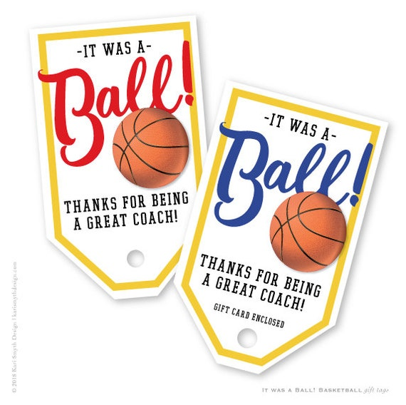 It Was A Ball Basketball Gift Tags Great For For Etsy