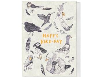 Happy Bird-day, A6 Birthday Card