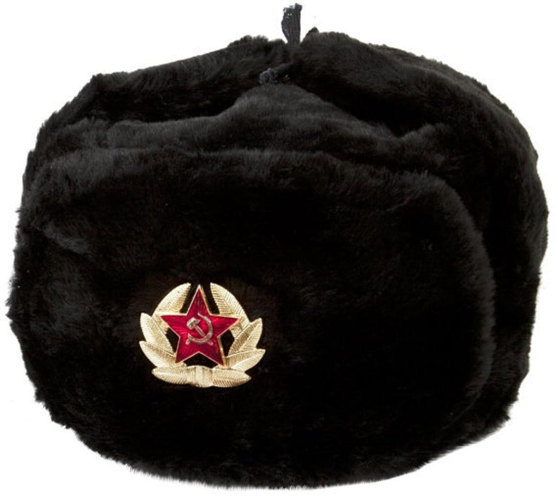 99daa12c406a3 Russian Soviet Soldier Winter Army Hat Ushanka With Soviet