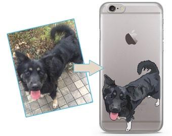 b9de1d6fe4 Custom illustrated Dog iPhone Case, Hand Drawn Dogs iPhone Case, Image  illustration, Iphone 6s case, iPhone 7 case, iPhone 7 plus case