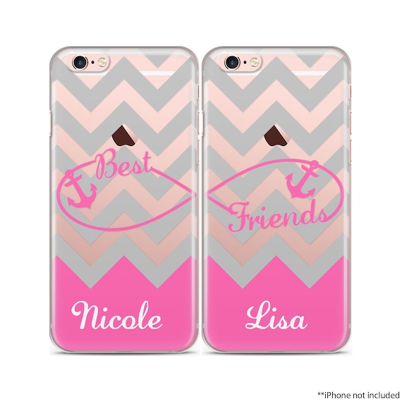 Infinity Case Set Gray Chevron Hot Pink Infinity Symbol Case Etsy