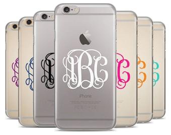 Monogram  iPhone Case, iPhone 6 plus case Transparent iPhone Case, iphone 6s case, iPhone 7 case, iPhone 6s plus case
