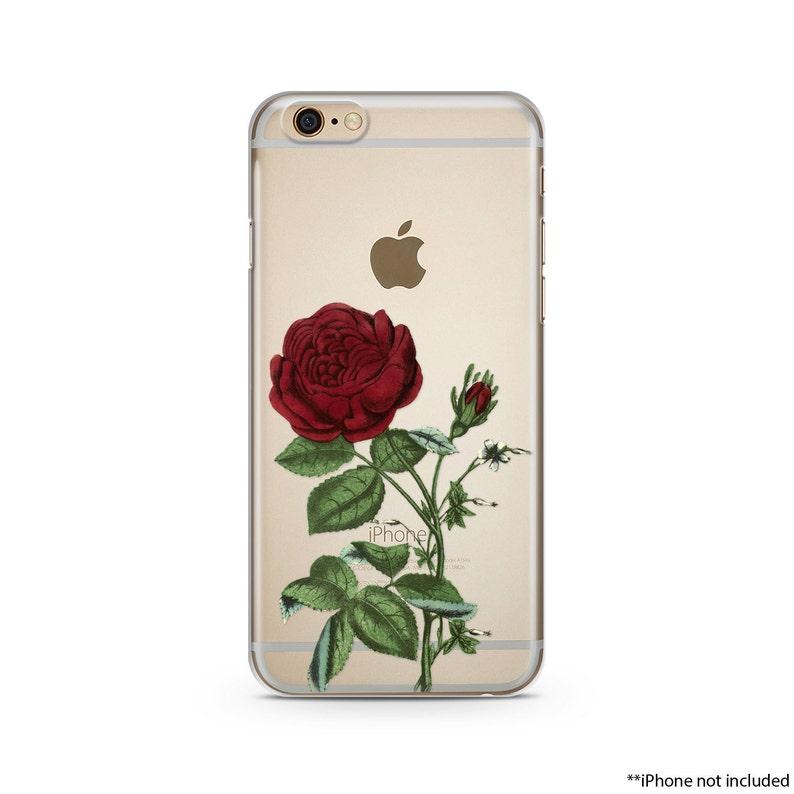 best sneakers 7c626 2aaa9 Red Flower iPhone Case, iPhone 6 plus case Transparent iPhone Case, iphone  6s case, iPhone 7 case, iPhone 6s plus case R18