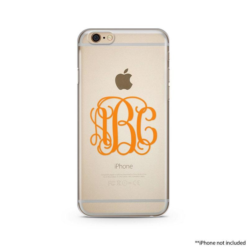 buy online f8043 8dba4 Orange Monogram iPhone Case, iPhone SE case, iPhone 6s Case, iPhone 6s Plus  case, iPhone 7 case, Clear Phone Case