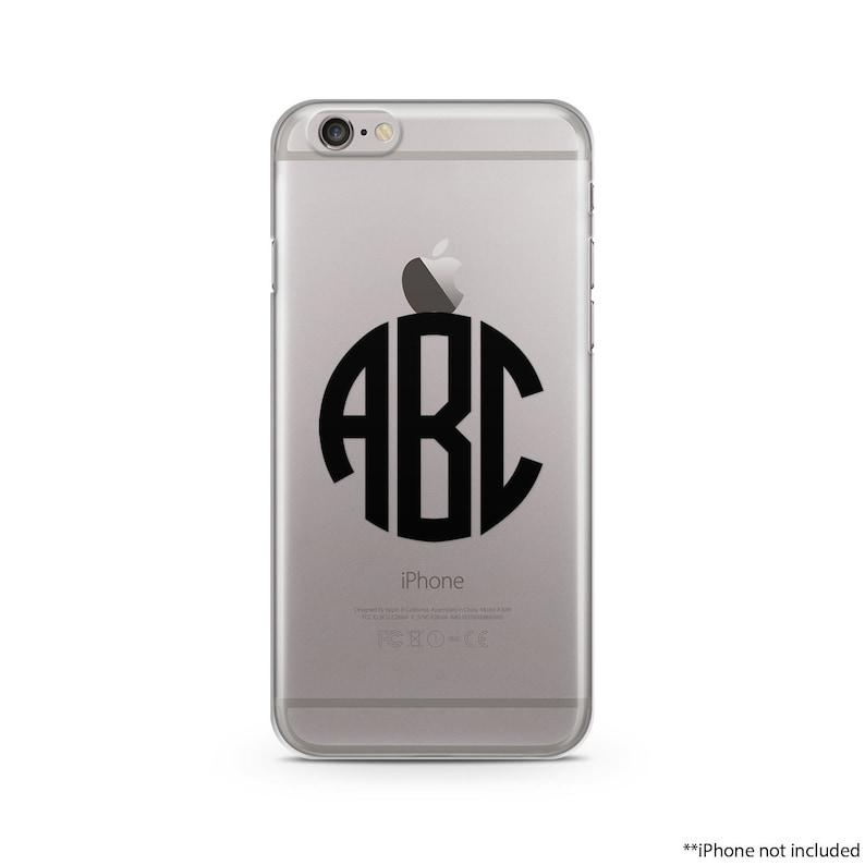 finest selection b53ac b2dec Circle Black Monogram iPhone Case, iPhone SE case, iPhone 6s Case, iPhone  6s Plus case, iPhone 7 case, Clear Phone Case