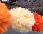 "6 gift Tissue Paper Pom Pom Bridal Shower Decor Tissue Pom Pom Paper Decorations Tissue Paper Flowers Wedding Decoration Paper Pom 8""10""12"""