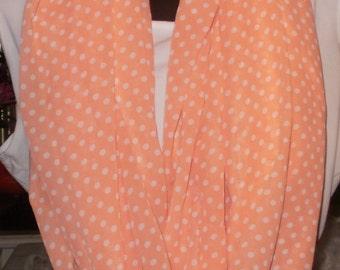 Infinity Scarves,  Orange Scarves, Polka Dot Scarves, Circle Scarves, Eternity Scarves, Fashion Scarves, J'NING Accessories, J'NING Fashions