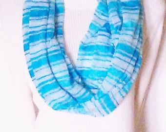 Infinity Scarves, Circle Scarves, Eternity Scarves, Blue Scarves, Teal Scarves, Fashion Scarves, Woman's Scarves,  J'NING Accessories