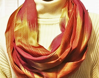 Infinity Scarf, Eternity Scarf, Gold Scarves, Bronze Scarves, Burgundy Scarves, Circle Scarves, J'NING Accessories, Copper Scarves,