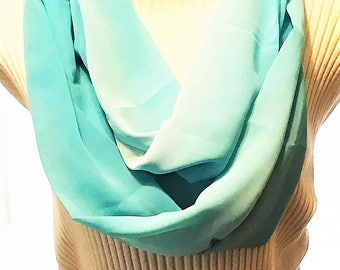 CLEARANCE  Turquoise Infinity Scarf, Infinity Scarves, Eternity Scarves, J'NING Accessories,