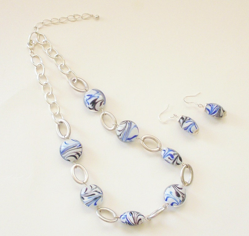 Blue and White Jewelry Blue and White Necklaces J/'NING Accessories J/'NING Jewelry Unique Jewelry Blue Jewelry Blue Necklaces