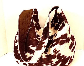 Hobobags, Big Purses, Hobo Bags, J'NING Handbags, Cow Print Handbag, Tote Bags, Brown Hobobags, Carryalls, Big Shoulderbags,