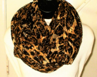 Leopard Print Infinity Scarf, Fashion Scarves, Knit Scarves, Scarves, Infinity Scarves, J'NING Accessories, Circle Scarves, Eternity Scarves