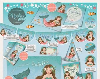 Mermaid Printable Party Package