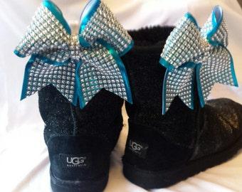 14ca96d1c84 Ugg bows sparkle | Etsy