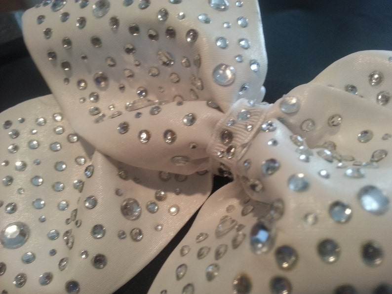 d52166178c2416 Extreme Bling Luxury Cheer Bow Big Sparkly Rhinestone Crystal