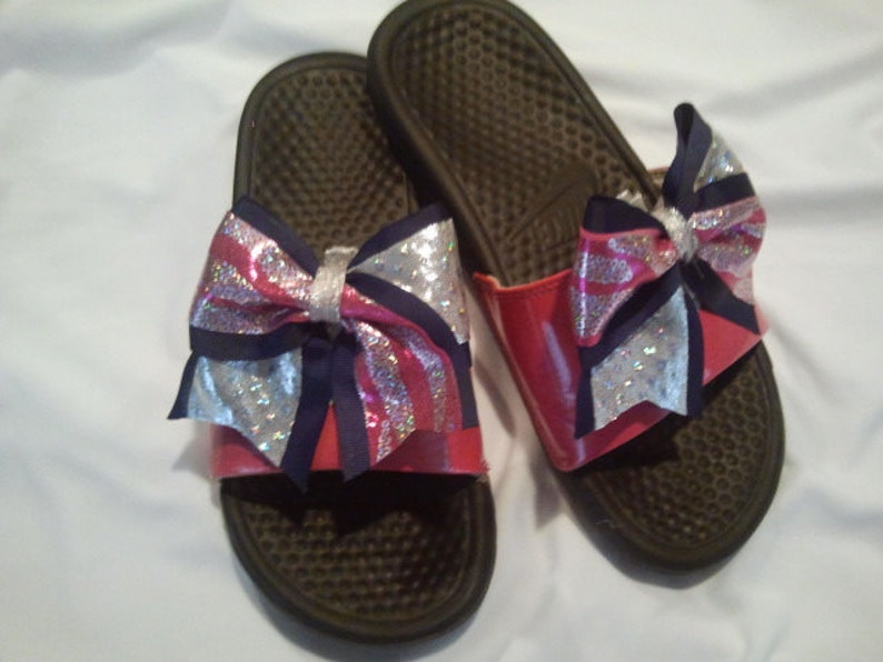 d3d0aeaf9ff46f 2 Cheer Shoe Bows Attach to Slides Tennis Shoes Uggs Most