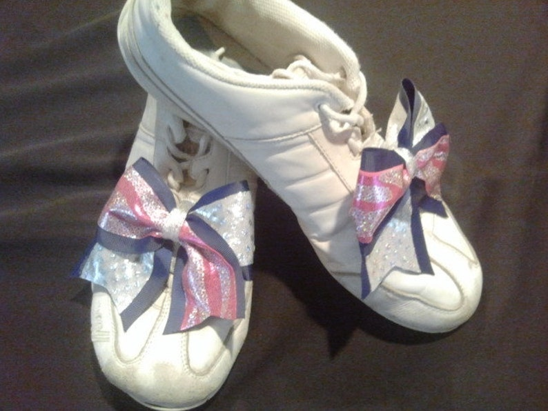 2 Cheer Shoe Bows Attach To Slides Tennis Shoes Uggs Most