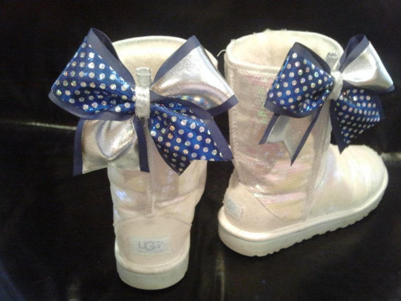 Mini Cheer Bow Ugg  Shoe Clips Set of 2 Choose Colors Clip  946053465