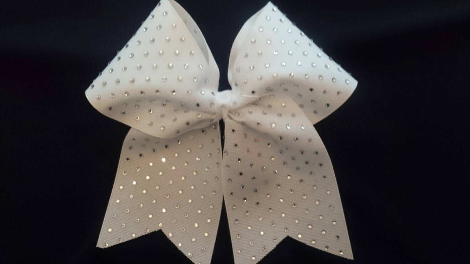 95d421aa9f7ddd Cheer Bow with Solid Rhinestones on 3 Texas Size