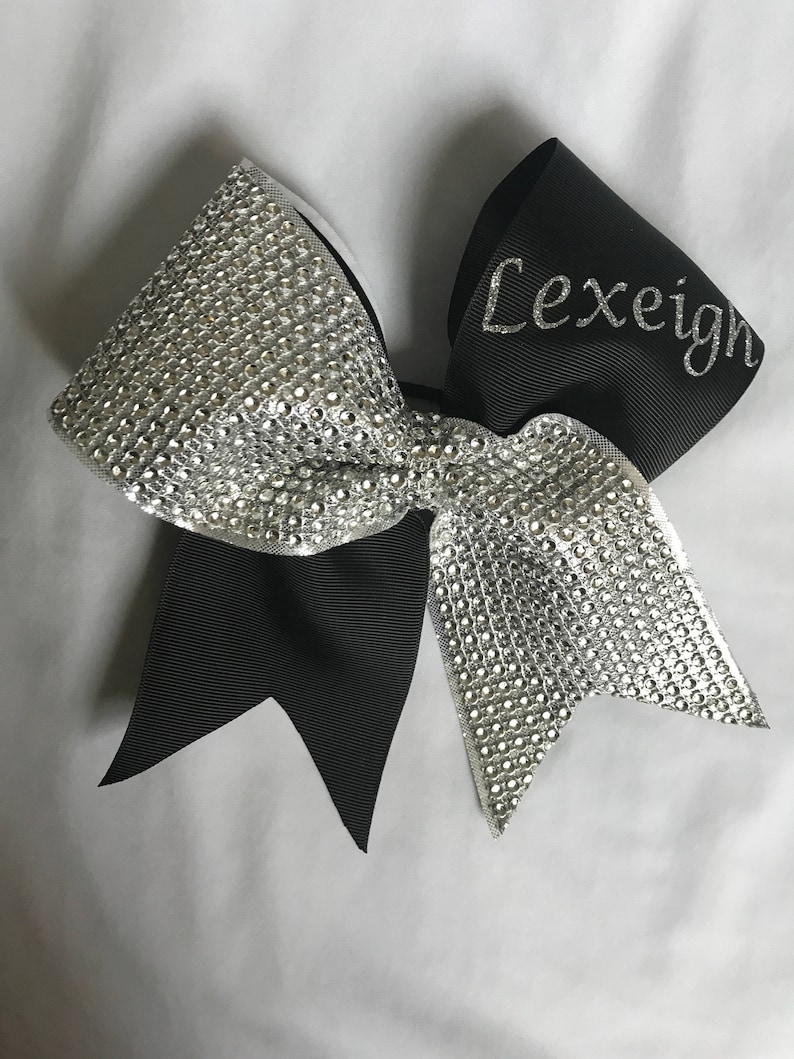 11a251b8aa6de7 Personalized Bling Cheer Bow Girls Names Coach or Team Big