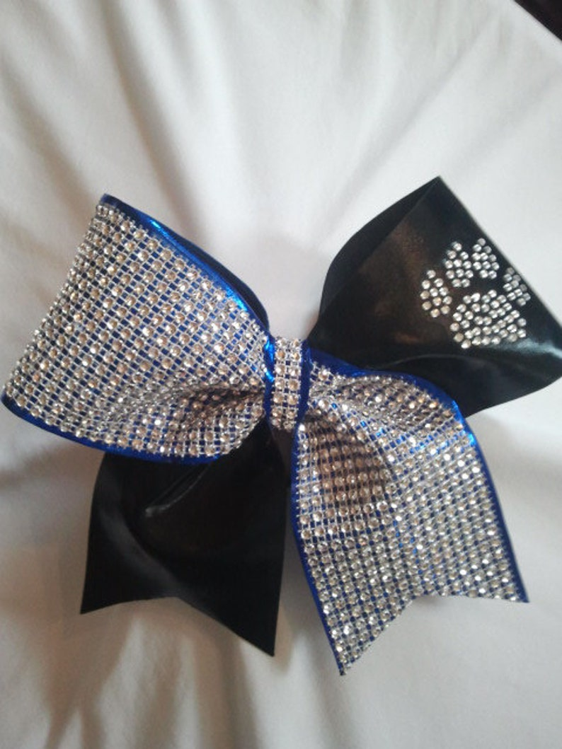412d187f2e19a7 Texas Size Bling Luxury Cheer Bow with Crystal Paw Print
