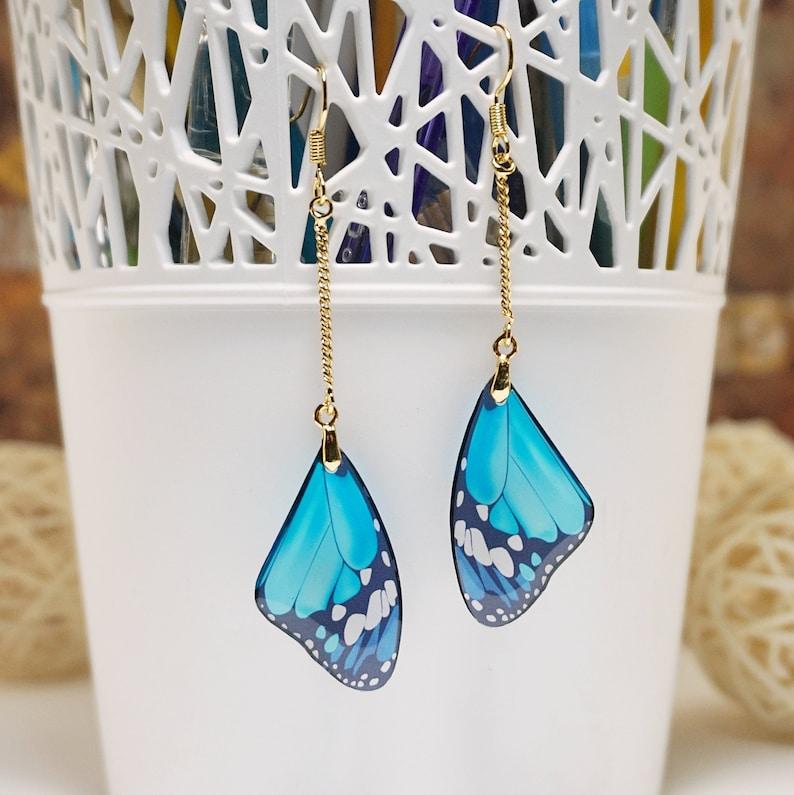 18K Gold Filled Butterfly Earrings Wings Gold Butterfly image 0